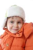 Ropa del invierno del niño que desgasta Fotografía de archivo libre de regalías