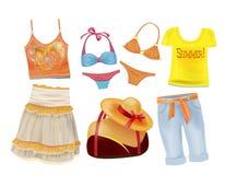 ropa del verano para las muchachas Foto de archivo