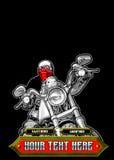 Ropa design10 de los motoristas Fotografía de archivo