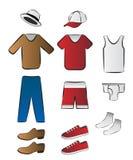 Ropa e ilustración de la ropa interior Fotografía de archivo