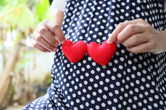 Ropa embarazada de la maternidad de los azules marinos de la ropa de mujer Imágenes de archivo libres de regalías