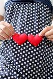 Ropa embarazada de la maternidad de los azules marinos de la ropa de mujer Fotos de archivo libres de regalías