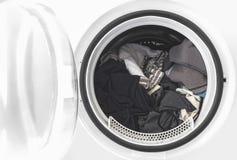 Ropa en la lavadora Imágenes de archivo libres de regalías