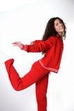 Ropa griega de la gimnasia de mujer Imagen de archivo libre de regalías