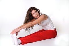 Ropa griega de la gimnasia de mujer Foto de archivo libre de regalías