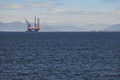 Ropa i gaz denna platforma w Norwegia Przemysł energetyczny petroleum obraz stock