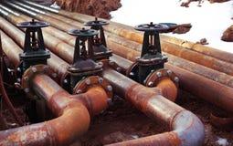Ropa i gaz drymby linii klapy Zdjęcie Royalty Free