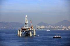 Ropa i gaz platforma fotografia royalty free