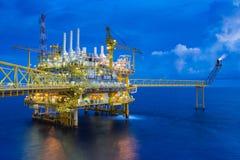 Ropa i gaz produkci platforma, Ropa I Gaz produkcja i eksploracja biznes w zatoce Tajlandia, obrazy stock