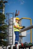 Ropa I Gaz produkcja operator Obraz Stock