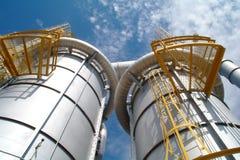 Ropa i gaz przemysł, zakład petrochemiczny zdjęcie royalty free