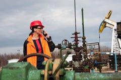 Ropa i gaz przemysłu inżynier Obraz Stock