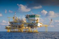 Ropa I Gaz przerobowa platforma, zakwaterowanie platforma, raca platforma Zdjęcie Royalty Free