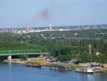 Ropa i gaz roślina, zanieczyszczenia środowisko Obrazy Stock