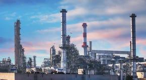 Ropa i gaz zakład petrochemiczny, przemysł fabryka obrazy royalty free