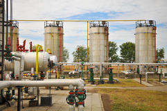 Ropa i gaz zakład przetwórczy obrazy royalty free