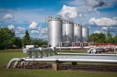 Ropa i gaz zakład przetwórczy fotografia stock