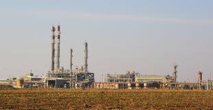 Ropa i gaz zakład przetwórczy fotografia royalty free