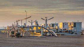 Ropa i gaz zakład przetwórczy zdjęcia royalty free