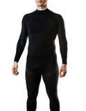 Ropa interior termal negra masculina para el deporte activo Imagen de archivo