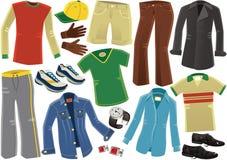Ropa masculina clasificada de la ropa stock de ilustración