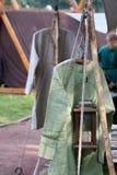 Ropa medieval Foto de archivo libre de regalías