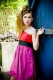 Ropa modelo de la muchacha del adolescente actual fotos de archivo libres de regalías
