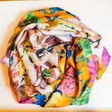 Ropa multicolora de la bufanda Foto de archivo