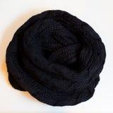 Ropa negra de la bufanda Imágenes de archivo libres de regalías