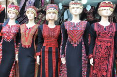 Ropa palestina de las mujeres Imagen de archivo
