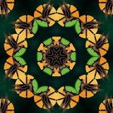 Ropa, papeles pintados y fondos verdes y amarillos stock de ilustración