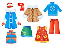 ropa para las muchachas Imagenes de archivo