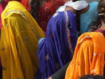 Ropa tradicional colorida en la India Imagen de archivo libre de regalías