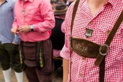 Ropa tradicional de Oktoberfest Imagen de archivo
