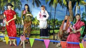 Ropa tradicional en Malasia Imagenes de archivo
