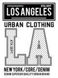 Ropa urbana de Los Ángeles de la tipografía del vector Fotografía de archivo