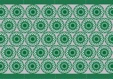 Ropa verde africana de la cesta Foto de archivo libre de regalías