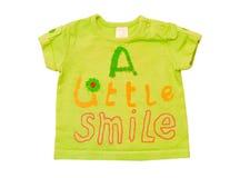 Ropa verde del top del bebé. foto de archivo libre de regalías
