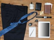 Ropa y accesorios del negocio de los hombres Fotografía de archivo