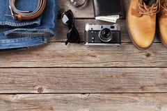 Ropa y accesorios del ` s de los hombres Foto de archivo