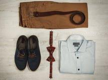 Ropa y accesorios masculinos Imagenes de archivo