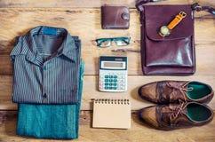 Ropa y accesorios para el hombre de negocios Fotografía de archivo