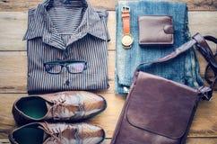 Ropa y accesorios para el hombre de negocios Imagen de archivo libre de regalías
