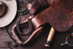 Ropa y accesorios para el montar a caballo. Imágenes de archivo libres de regalías