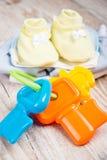Ropa y accesorios para los bebés, Foto de archivo libre de regalías
