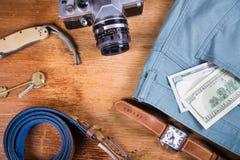Ropa y accesorios para los hombres Imágenes de archivo libres de regalías