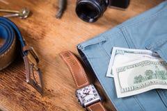 Ropa y accesorios para los hombres Foto de archivo libre de regalías