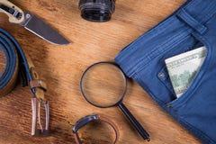 Ropa y accesorios para los hombres Imagen de archivo
