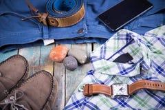 Ropa y accesorios para los hombres Foto de archivo