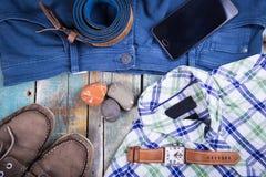 Ropa y accesorios para los hombres Fotografía de archivo libre de regalías